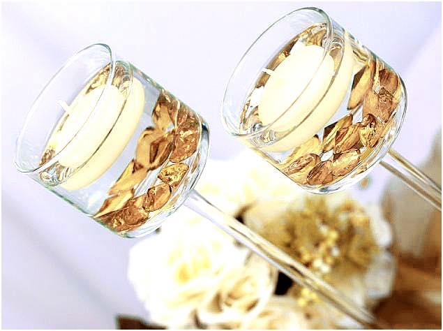 diamants décoratifs dorés