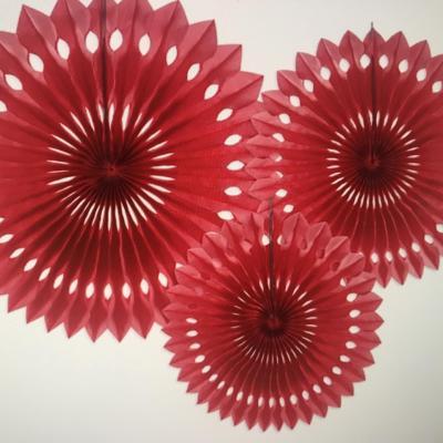 Rosaces Rouges (20 cm 25cm et 30cm)