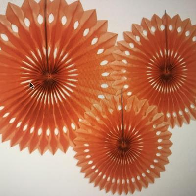 Rosaces oranges (20 cm 25cm et 30cm)
