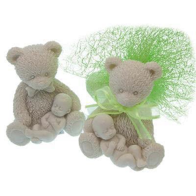 Bébé avec petit ourson garni grand modele