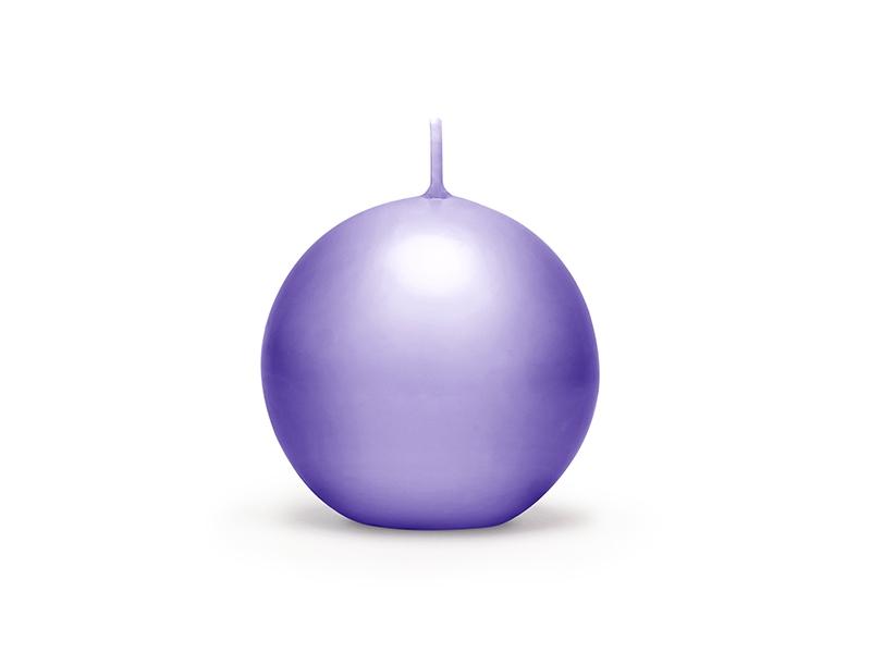 Bougies boule parmes