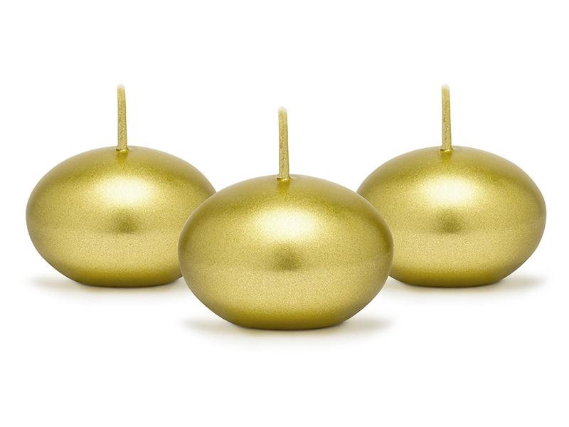 Bougies flottantes dore es