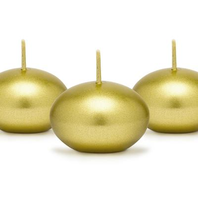 Bougie flottante dorée