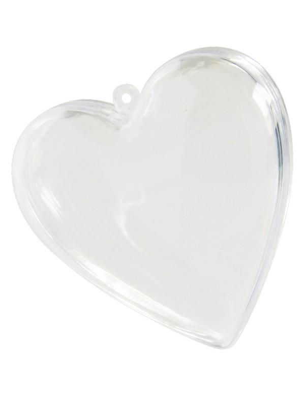 Contenant plexi en forme de coeur 2 pc