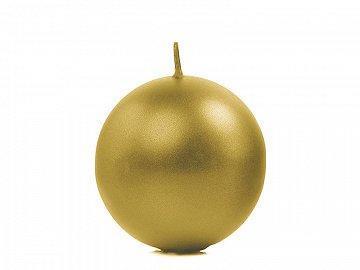 Bougie boule dorée