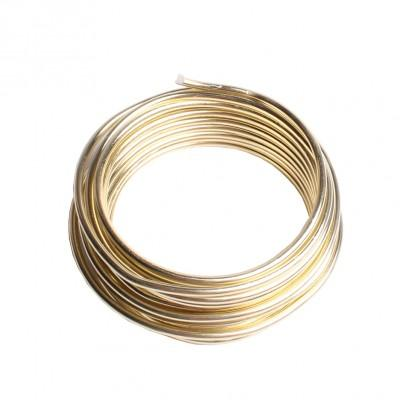 Fil aluminium doré