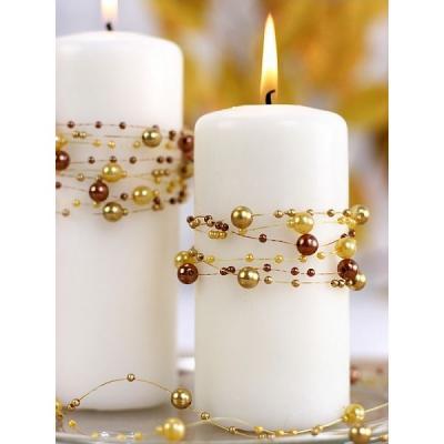 Guirlande perles dorées