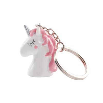 Licorne pinkie porte clefs
