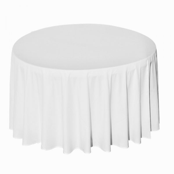 Nappe ronde blanche 600x600