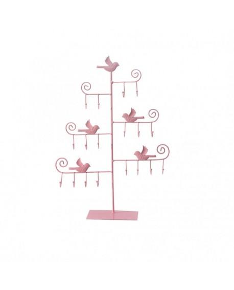 Presentoir oiseaux crochets rose