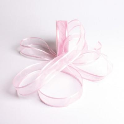 Ruban bord satin rose clair