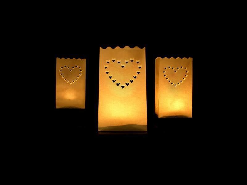 Sachets lumineux coeur