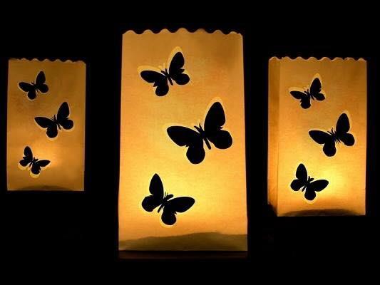 Sachets lumineux papillon