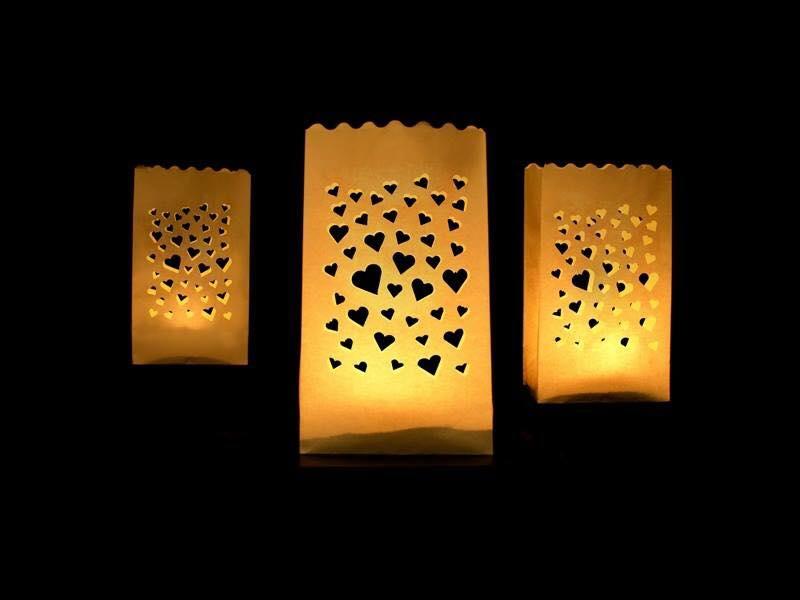 Sachets lumineux petits coeurs