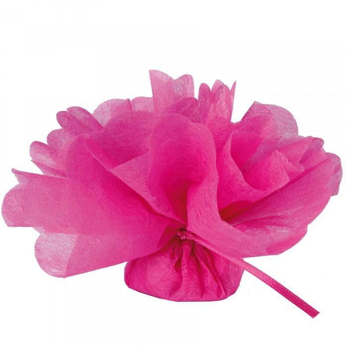 Tulle intisse rose fushia